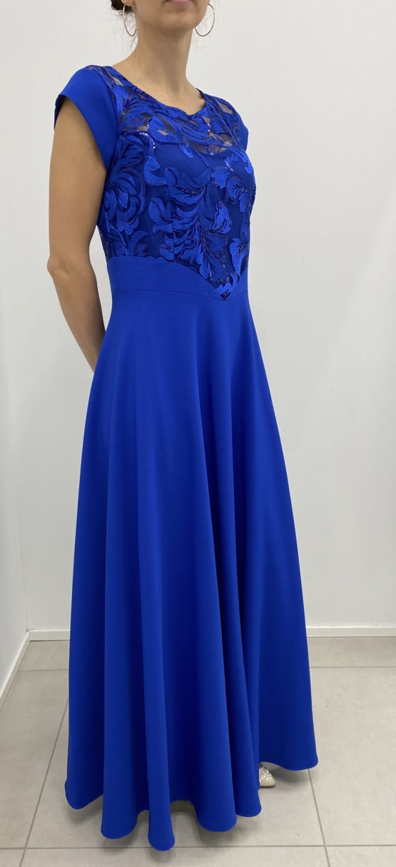 kleit sinine pikk pitsiga