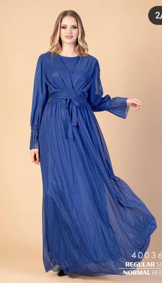kleit pikk pidulik sinine