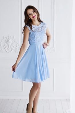 kleit sinine pitsiga lühike